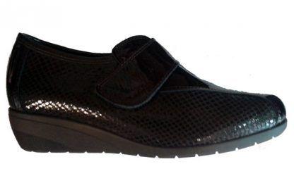 Zapatos cuña Galiana 920 confort piel negro