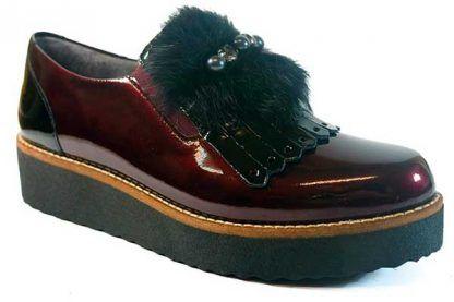 Zapatos Pitillos 5410 burdeos-negro