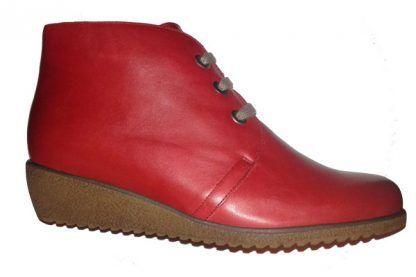 Botines cuña Galiana 200 confort piel rojo