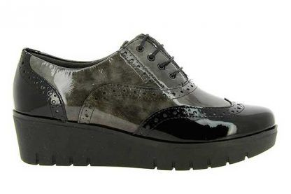 Zapatos Pitillos señora sport 1901 negro-gris