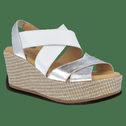 Sandalia Pitillos 5672 plata-blanco