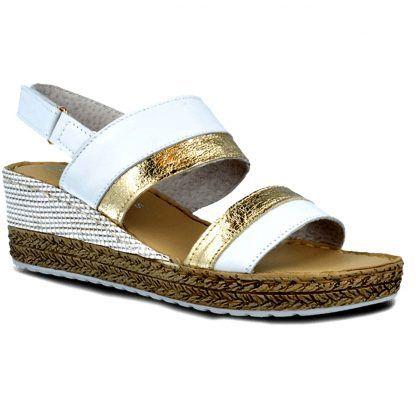 Sandalia Pitillos 5641 blanco-oro