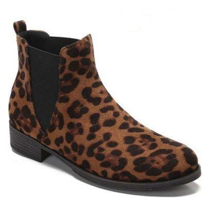 Botines mujer leopardo planos