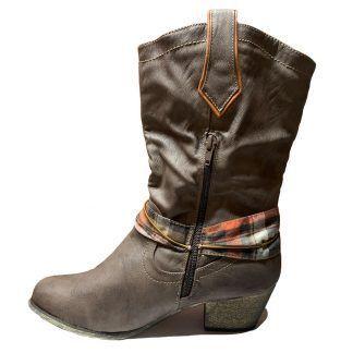 Botines Cowboy Mujer Marrón